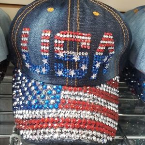 Accessories - USA bling cap